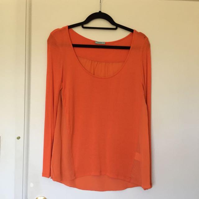 Kookai Orange Top Size 2