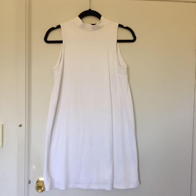 Kookai size 1 White High Neck A Line Dress