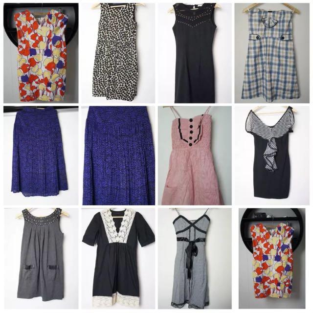 Ladies MASSIVE Bulk Lot Summer Dresses- Sz 6-12, Zara, State of Georgia AS NEW