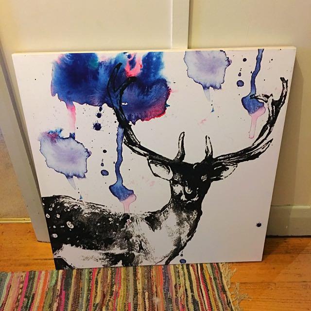 Large Deer Canvas