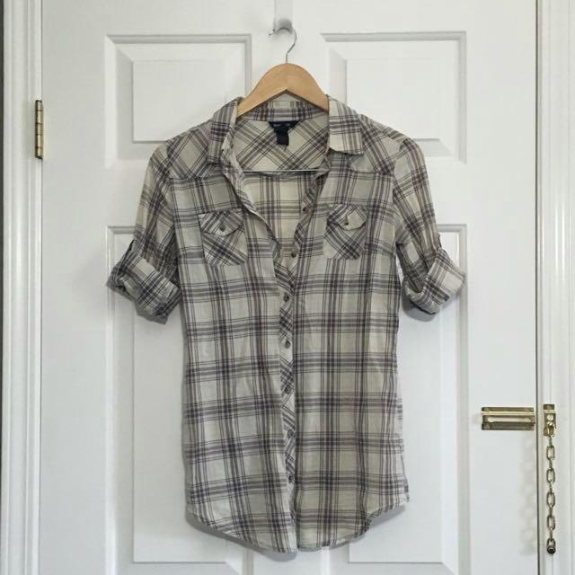 MANGO Basics Longline Shirt With Adjustable Sleeves
