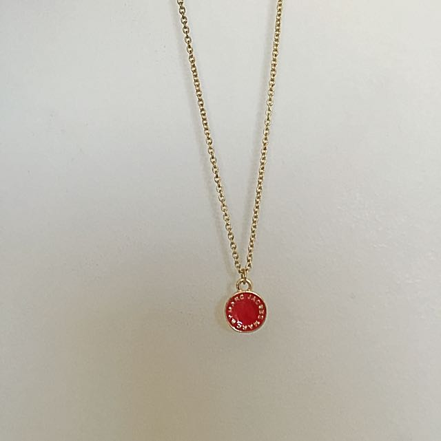 Marc Jacobs Logo Necklace Red