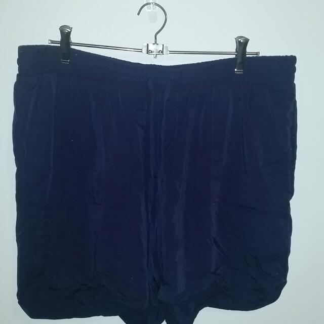 Navy Blue Polyester Shorts Emerson Size XL