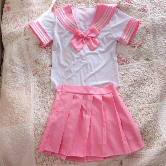 🎀NEW Baby Pink Sailor Japanese Uniform Seifuku Set