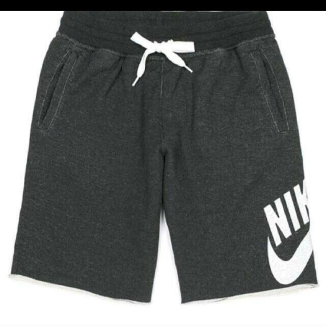 Nike 棉短褲 深灰