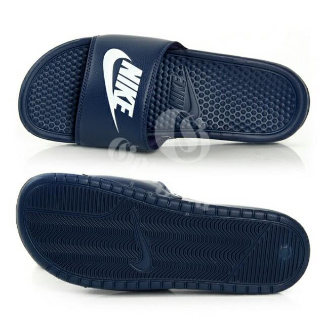 Nike 拖鞋 深藍