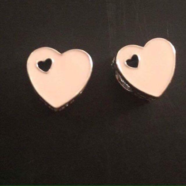 Pandora Heart Pink Enamel