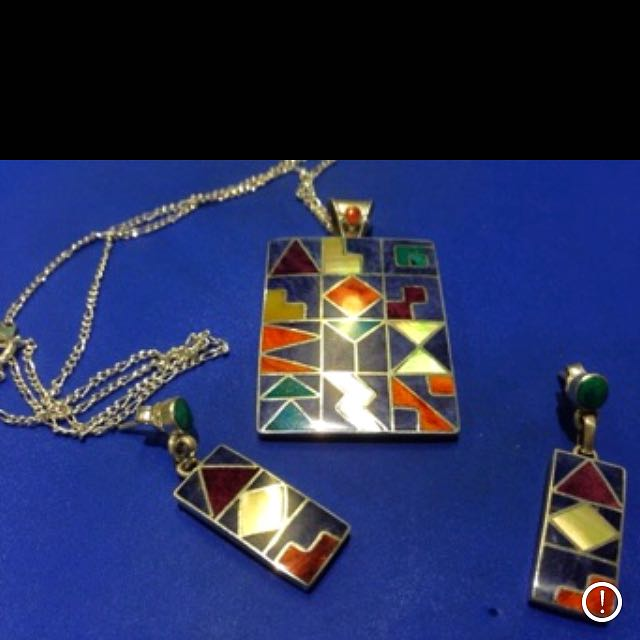 Picasso Necklace and earring set