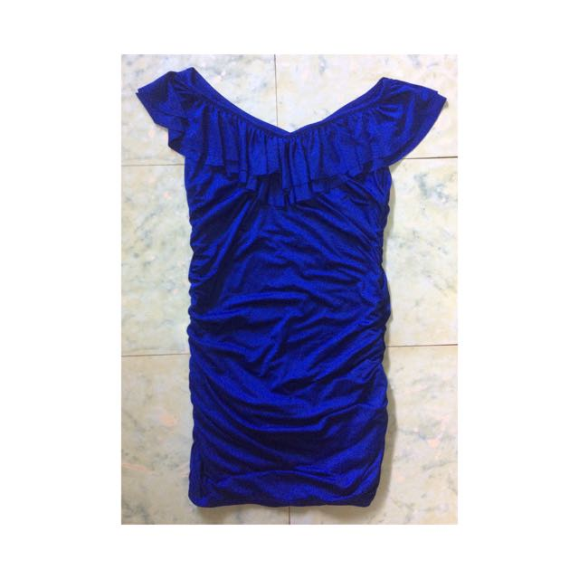 Royal Blue Body-hugging Dress
