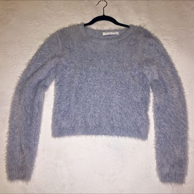 Sky Blue Cropped Knit