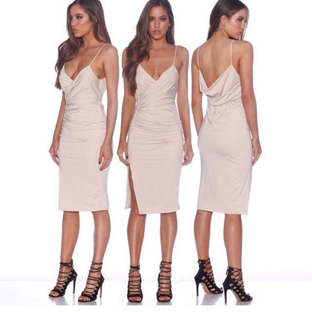 Strappy Wrap Bodycon Dress