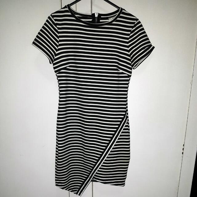 Stripe t-shirt mini dress sz 8