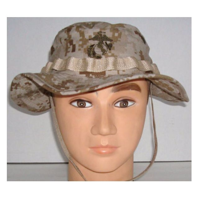 14a4250bf5742 US Marine USMC Desert Marpat Boonie Hat and Frog Shirt