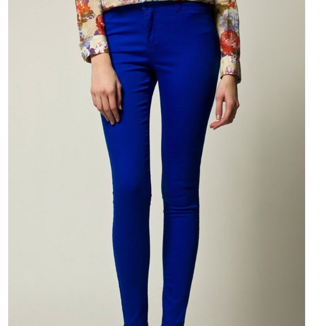 Vero Moda Wonder Colour Jeans In Blue
