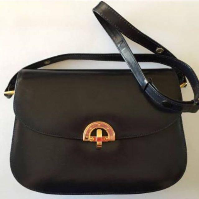 Vintage Leather Paris Bag Excellent Condition