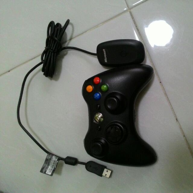 Xbox 360 Wireless Controller W/ Adapter For Pc, Toys & Games, Video ...