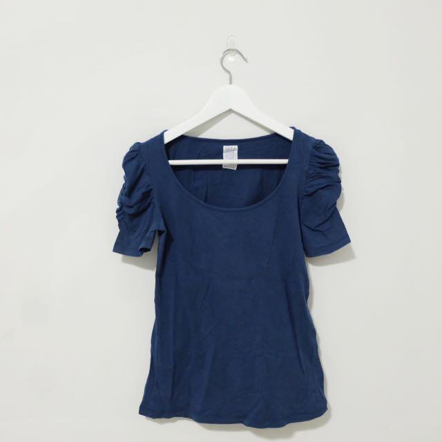 Zara TRF Navy Blue Tops