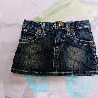 GAP 6-12M牛仔短裙