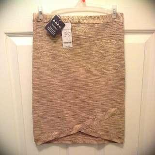 Bebe Gold Skirt