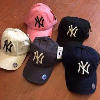 NY 棒球帽 老帽 黑色