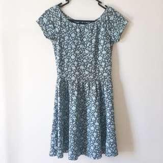 🇦🇺 TOPSHOP Floral Print Skater Dress (UK8)