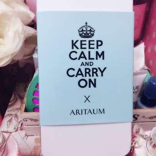 Keep calm and carry on x 韓國Aritaum 聯名 手拿鏡