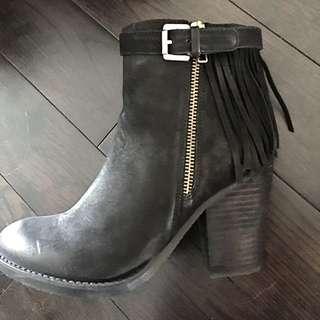 Steve Madden Fringe Leather Booties