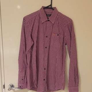 Pink/red Farah Shirt