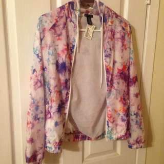 Wind Breaker Floral Jacket