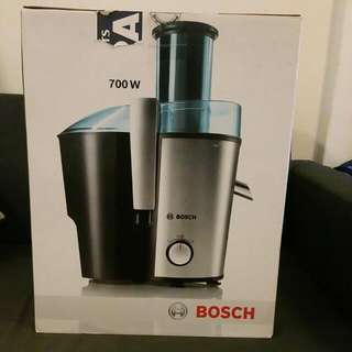 Almost Brand New Bosch Juice Extractor. Leaves no wastage. Hardly Used. Box also brand new.