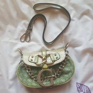 Guess Mint Green and Cream Crossbody Bag or Clutch