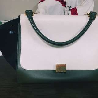 Celine Medium Trapeze Calfskin And Lambskin Lining