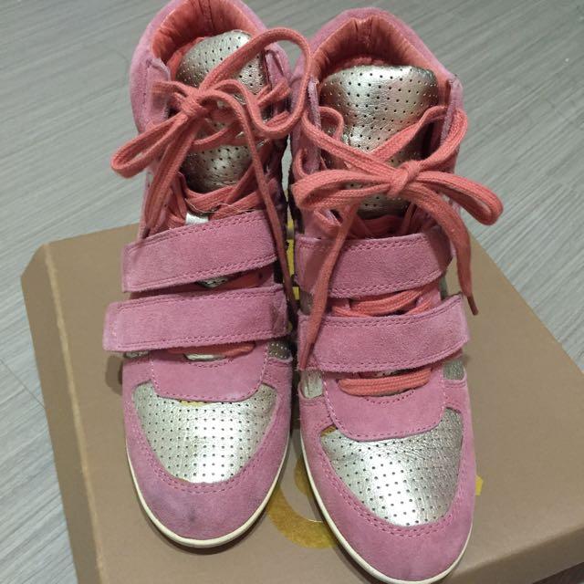 100%正貨 Ash 增高 布鞋 粉紅色