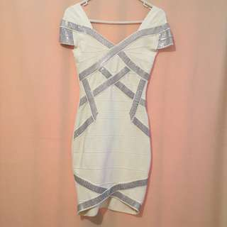 White Bodycon Dress Size 8