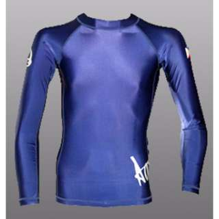 Aquamundo Long Sleeve Rash Guard (Blue) for scuba diving, freedive or surf