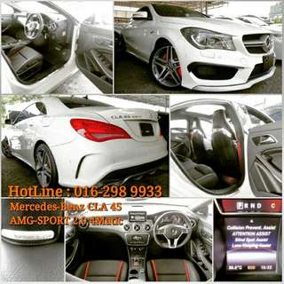 Mercedes-Benz CLA 45 AMG-SPORT 2.0 4Matic  Japan Hi-Spec  UnRegistered Year 2014   FOR SALE ~~ PRICE NEGO ~~~  *Many more Mercedes-Benz vehicles are available to choose ~   INTERESTED, please contact to  HotLine : 016-298 9933