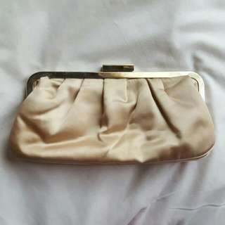 Light Gold Champagne Party Clutch
