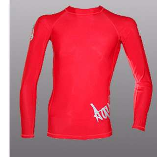 Aquamundo Long Sleeve Rash Guard (Red) for scuba diving, freedive or surf
