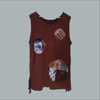 💮駝色 · 拼貼洋裝
