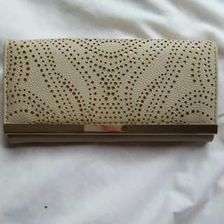 Gold and Cream Cut Out Wallet