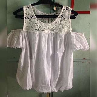 ‼️Repriced‼️Laced Off Shoulder White