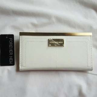 (pending) Forever New White Cream Gold Wallet BNWT