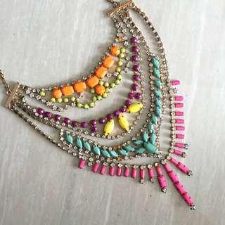 Nastygal - Tier Multicolor Jewel Necklace
