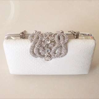 Beautiful Small White Clutch