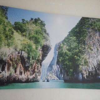 Painting Picture Of Halong Bay n Water For Good Feng Shui With 100 Birds