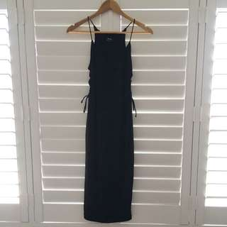 Black Midi Dress From Bardot