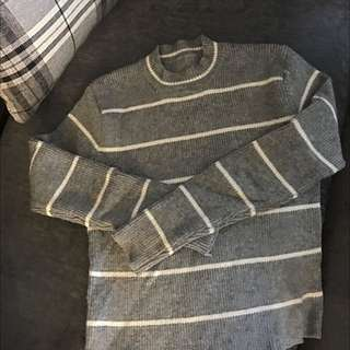 修身棉條紋上衣