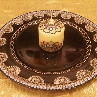 Candle And Thaal Set