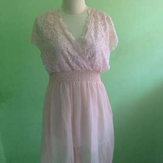 (NEW) Baby Pink Lace Dress