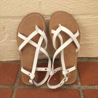 White Sandals Size 5